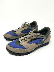 Shimano Cycling Mountain Biking Shoes 36 Sh-Mo31 Blue Green Tan Suede US 6 CLEAT