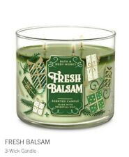BATH & BODY WORKS FRESH BALSAM 3-WICK CANDLE 14.5oz  NEW