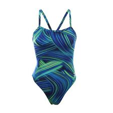NEW* Speedo 6 32 Swimsuit RACING ATHLETIC Endurance Turbo $84 Retail Blue