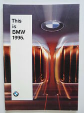 BMW Range 1994 1995 UK Market brochure prospekt - 3 5 7 8 Series & M3 M5 850CSi
