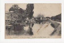 Amiens Les River De La Somme 1919 Postcard France 142a