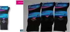 3 Pares de calcetines socks Abanderado NEO BAMBÚ T.U rombos negro-marrón-gris