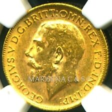 GR. BRITAIN GV 1914 GOLD COIN SOVEREIGN * NGC CERTIFIED GENUINE AU 58 * BLAZING