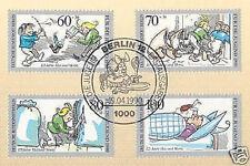 Berlin 1990: Max und Moritz! Jugend Nr. 868-871 mit Ersttagsstempel! 1A! 1609