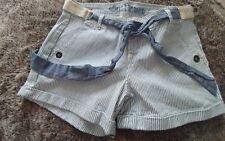 Junior's WALLFLOWER super cute  shorts, Light blue denim stripe size 5