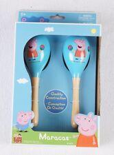 Peppa Pig Wooden Maracas Kids Toy New NIB Musical Instrument Shaker Toddler Blue