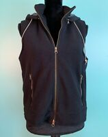 Marsh Landing Women's Fleece Hoodie Vest - Size Small, Black, Detachable Hood