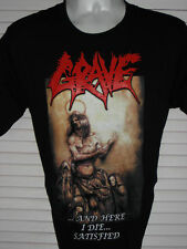 GRAVE ...And Here I Die... BLACK T-SHIRT SIZE SMALL 100% COTTON YAZBEK BRAND