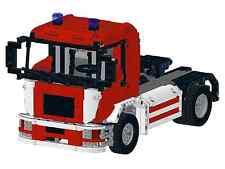 Bauanleitung instruction Feuerwehr Truck MAN 1  Eigenbau Unikat Moc Lego Technic