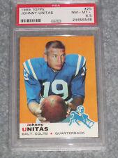 1969 Topps Football #25 Johnny Unitas PSA 8.5 NM-MT+ NQ
