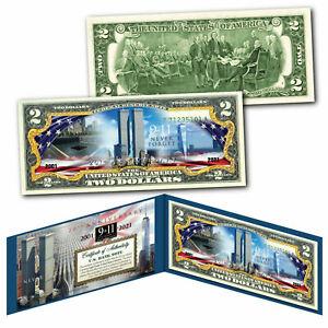 World Trade Center 9/11 WTC 20th ANNIVERSARY Genuine $2 U.S Bill Reflecting Pool