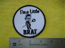 Vintage Black I'M A Little Brat Patch