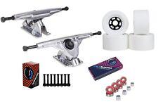 """Cal 7 Longboard Flywheel 10.75"""" Axle Truck Bearing 97mm White Skateboard Wheels"""