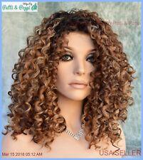 Diva Wig by Revlon Wigs Lace Front Mono Part Hot Color Molten Amber