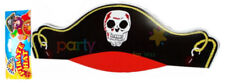 12 Cardboard Pirate Hats - Skull Black Pinata Loot/Party Bag Fillers Paper