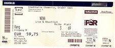 Nena - Live & Akustisch - Altes Konzert-Ticket - Chemnitz vom 11.01.2012 # 6067