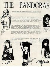 More details for pandoras fanclub letter vintage original circa 1988