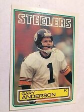 1983 Topps #356 - Gary Anderson - Pittsburgh Steelers (RC)