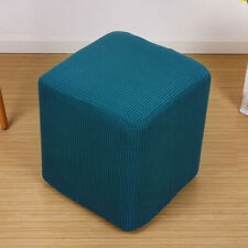 Stretchy Ottoman Cover Stool Jacquard Protector Solid Color 35*35*36cm