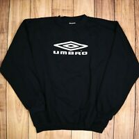 Mens Vintage UMBRO Spell Out Black Sweatshirt Size L