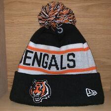New Era NFL Cincinnati Bengals Cuff Pom Knit Hat Beanie Stocking Cap Football