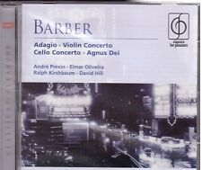 Barber: Adagio, Concerto Per Violino, Concerto Per Violoncello / Previn, Hill CD