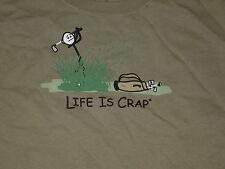 LIFE is CRAP  GOLF  Hacker   T-Shirt  sz... XLarge   XL