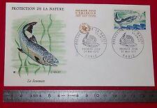 ENVELOPPE 1er JOUR PHILATELIE 1972 PROTECTION DE LA NATURE LE SAUMON
