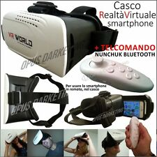 CASCO VR REALTA VIRTUALE 3D OCCHIALI + TELECOMANDO PER ALCATEL ONE TOUCH POP3 5.