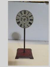 New ListingO/Standard Scale Model Rr Depot Clock Next Train Leaves Sign Missing Arrow