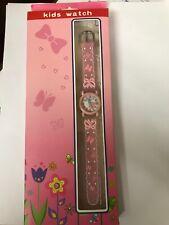 Kids Pink Butterflies Watch