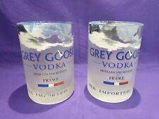 2 x Tumbler/Tall Glass, Grey Goose 1lt Vodka Bottle / Glass Upcycled