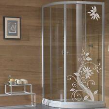 wall stickers adesivo adesivi fiori vetri box doccia decorazione bagno a0106