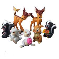 7PCS/lot Disney Bambi Thumper Flower BAMBI RABBIT BUNNY Figure Toy Doll Gift