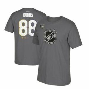 Brent Burns #88 NHL Allstar Game Sharks Hockey T-Shirt Short Sleeve Gray Reebok