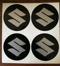 4x 58 mm fits suzuki sil wheel STICKERS center badge centre trim cap hub alloy