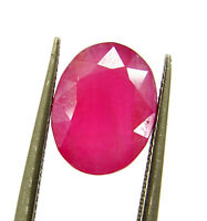 2.45 Ct Certified Natural Ruby Loose Gemstone Oval Cut Untreated Stone - 133414