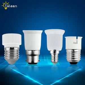 B22 E27 E14 GU10 Bulb Base Adapter Light Holder Lamp Socket Extender Converter