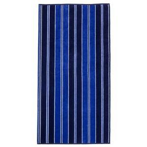 Jacquard 100% Cotton Cabana Style Blue Striped Theme Oversized Beach Towel