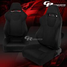 2 X TYPE-XL09 BLACK SPORTS JDM RACING SEATS+MOUNTING SLIDER RAILS LEFT+RIGHT SET