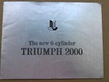 Triumph 2000 Car Brochure 1964