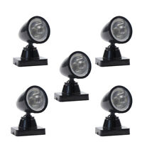 LYC18 5pcs Model Railway Christmas Lamp Post Flood Lights O Scale LEDs NEW