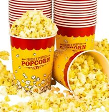32 Oz Popcorn Bucket Cup Yellow Red Retro Style 50 Buckets By Carnival King