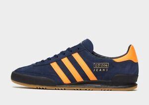 adidas Originals Jeans in Blue and Orange Mens Trainers