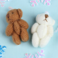 1Pcs 1:12 Dollhouse Mini Bear Simulation Miniature Animal Model Toys FEIHS