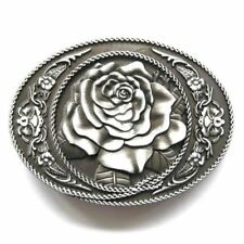 3D Detailed Rose Flower Belt Buckle floral fashion vintage