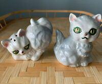 Vtg KITTEN/CAT Ceramic/Porcelain Hand Painted FIGURAL Salt &Pepper Shakers JAPAN