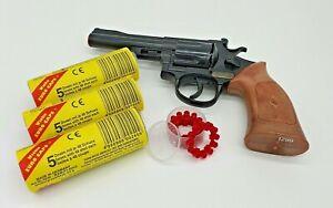 Sohni-Wicke 12-Schuss Revolver Denver + 720 Schuss Munition Pistole Fasching