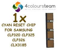 1x TONER CYAN RESET CHIP FOR SAMSUNG CLP 320 CLP325 CLP326 CLX3185 (CLT 4072)