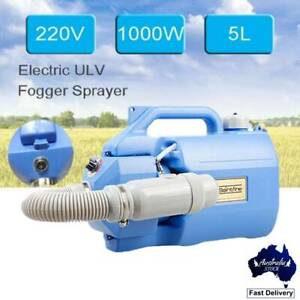 5L ULV Electric Fogger Disinfection Cold Sprayer WeedKiller Office Home Portable
